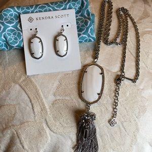 Kendra Scott Rayne & Danis.  Silver & white pearl
